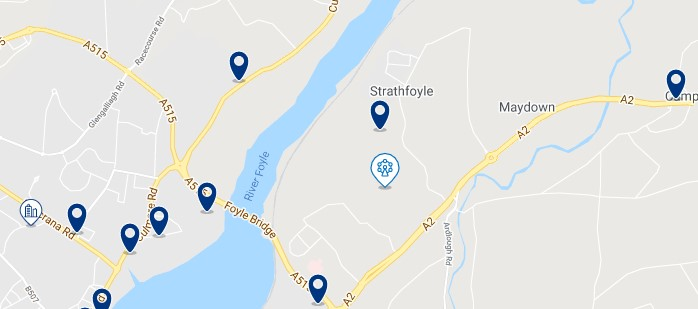 Accommodation near Enagh Lough - Click on the map to see all the accommodation in this area