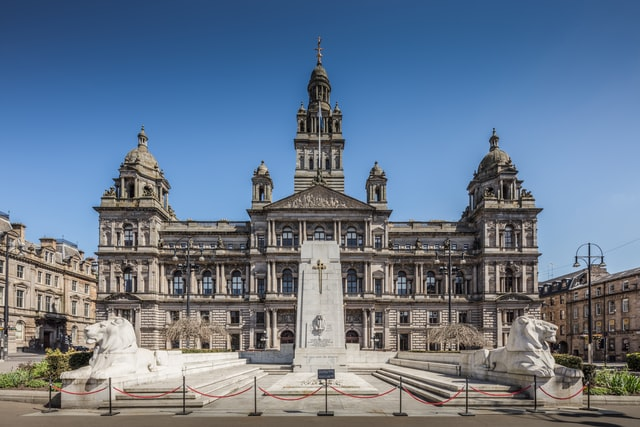 The city centre is the best area to stay in Glasgow for tourists