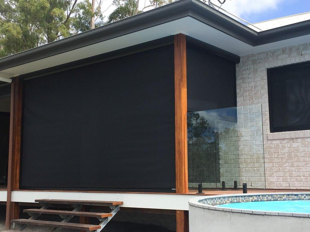 slidetrack outdoor blinds restrained