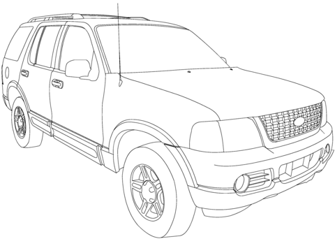 Ford Explorer 2002-2005 coloring page