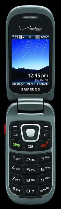 Samsung Convoy 3 ruggedized flip phone, open