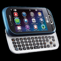 LG Extravert 2 slide phone with full QWERTY keyboard