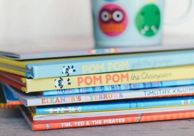 Stapel Kinderbücher