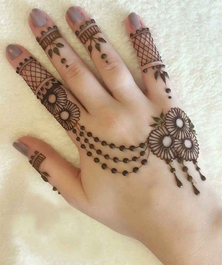 Simple Eid Mehndi Design hand