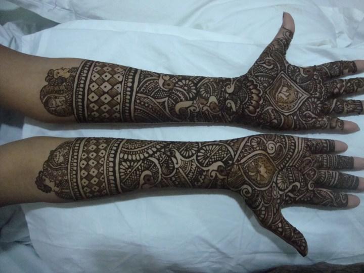 Pakistani Eid Mehndi Design full hand