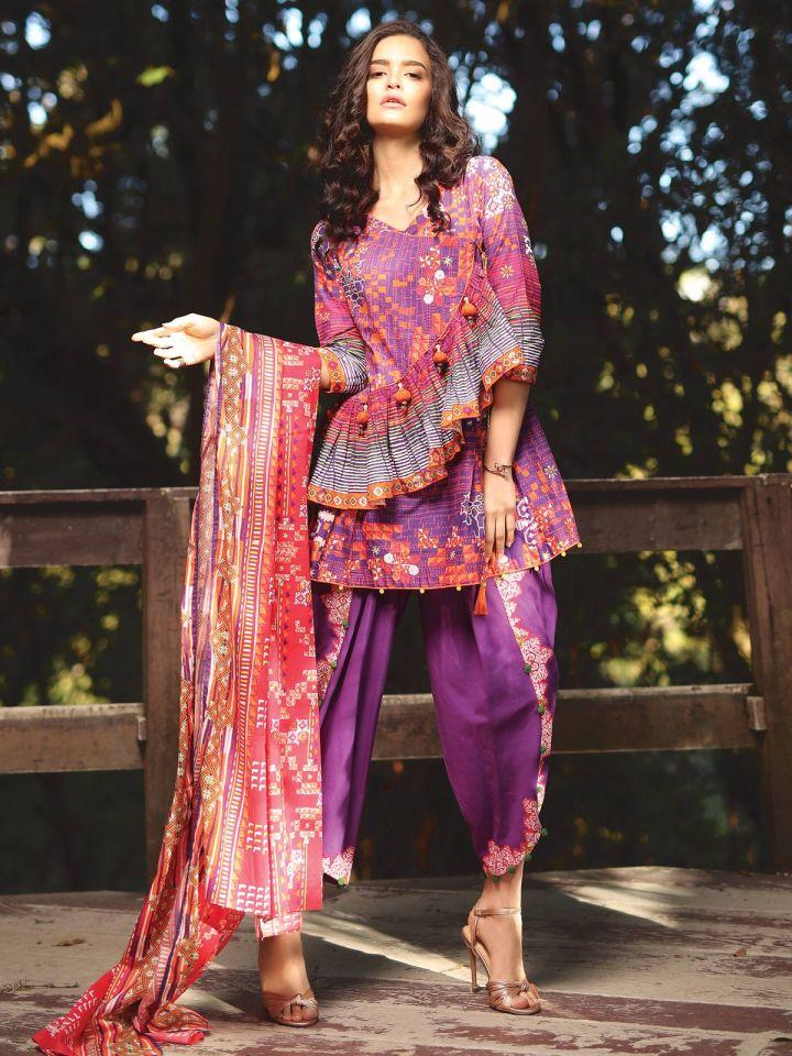 Edenrobe Un-Stitched Eid Collection 2019