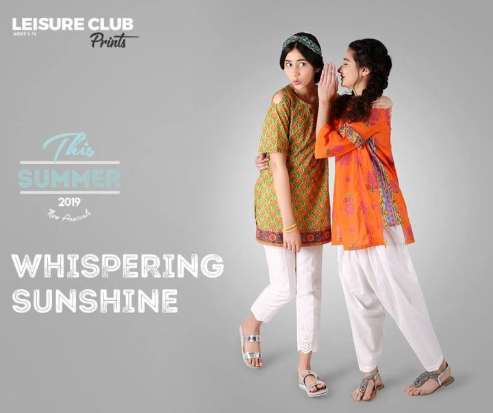 Latest Leisure Club Lawn Eid Collection 2019