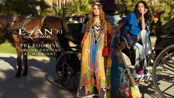 Latest Elan lawn Eid Collection 2019