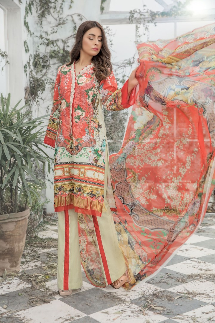Latest Firdous Unstitch Lawn Eid Collection 2019