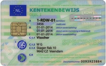 kentekenbewijs, kentekencard