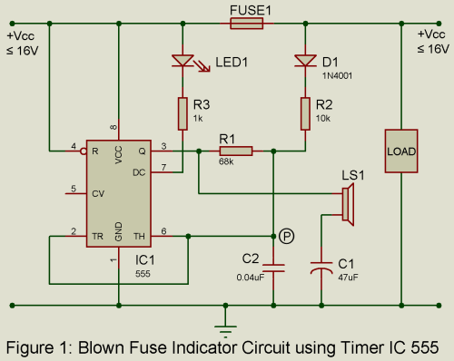 small resolution of blown fuse indicator circuit engineering projects blownfuse indicator circuit diagram tradeoficcom
