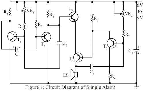 small resolution of part list of simple warning alarm