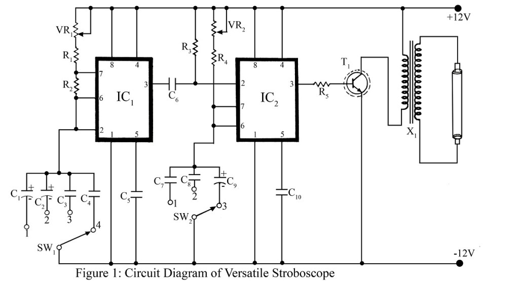 circuit diagram of versatile stroboscope