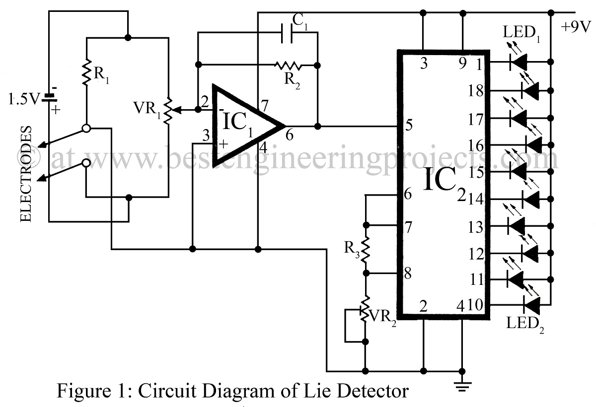 Simple Lie Detector Circuit