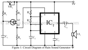 Rain Sound Generator Circuit  Best Engineering Projects