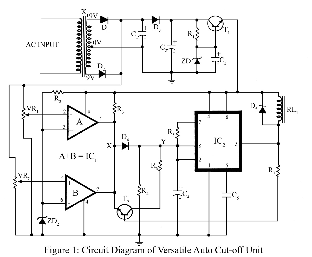 hight resolution of versatile auto cut off unit circuit diagram best engineering projects