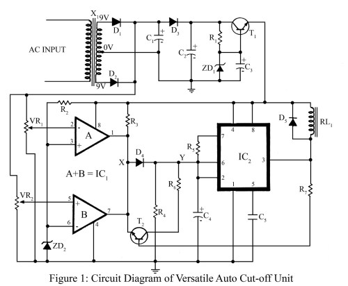 small resolution of versatile auto cut off unit circuit diagram best engineering projects