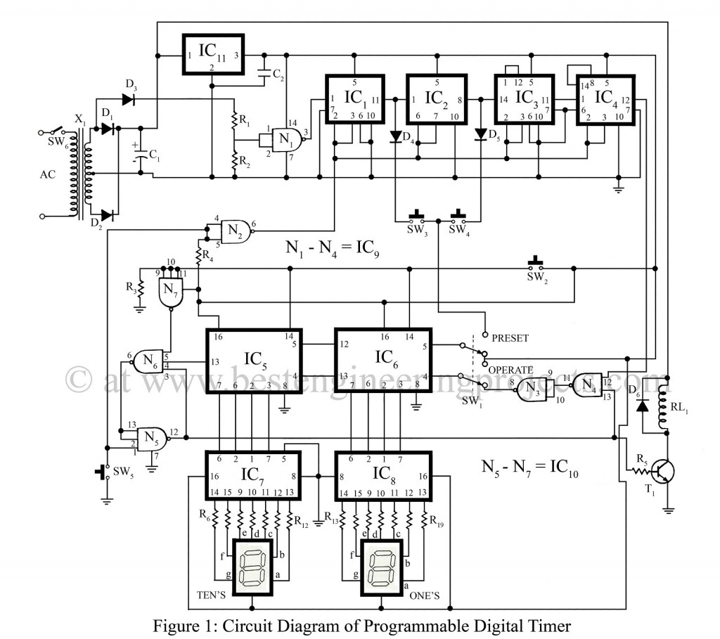 hight resolution of programmable digital timer circuit engineering projects digital clock circuit diagram for pinterest