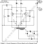Power Back-up For Digital Clocks