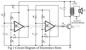 circuit diagram of electronics siren