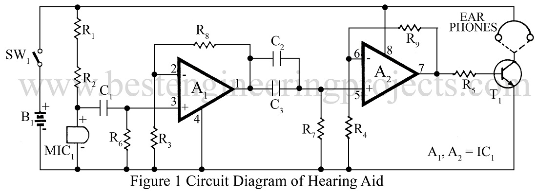 ic 4558 hearing aid circuit