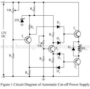 circuit diagram of automatic cut-off power supply