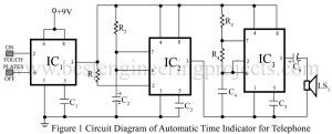 circuit diagram of automatic time indicator for telewphone