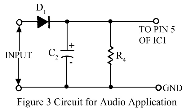 circuit diagram of audio application