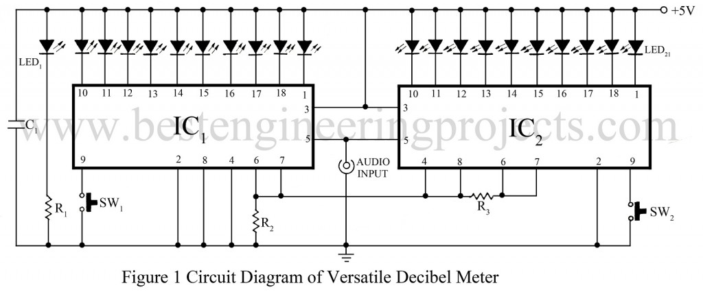 circuit diagram of versatile decibel meter