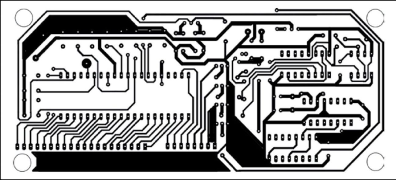 PCB design digital clock with second and alarm with time