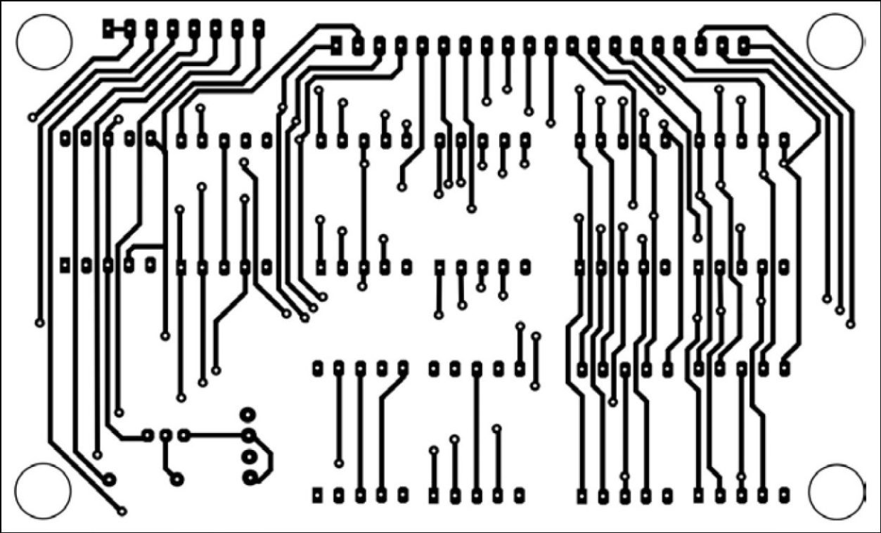 PCB design of display ofdigital clock with second and alarm with time