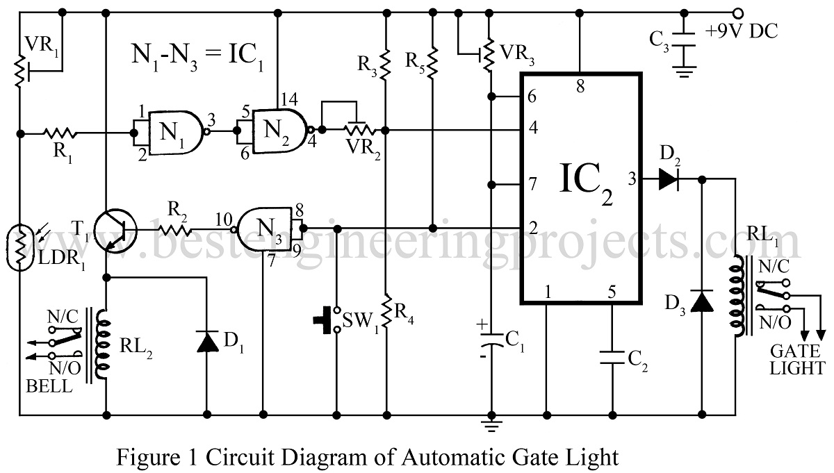 hight resolution of automatic gate light circuit