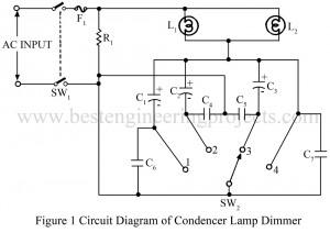 circuit diagram of lamp dimmer