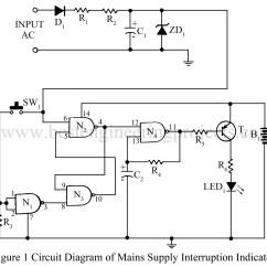 Simple Indicator Wiring Diagram Garmin Usb Power Cable Mains Supply Interruption Digital Electronics