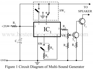 circuit diagram of multi tone generator