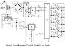 circuit diagram of variable digital power supply