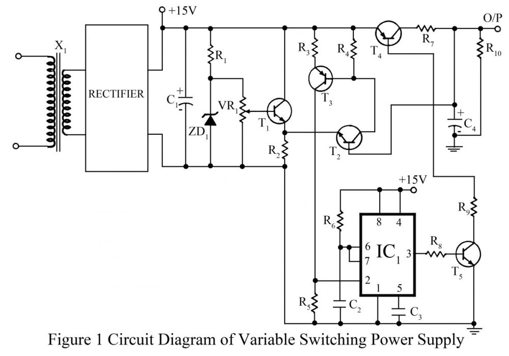 medium resolution of variable switching regulator circuits ic schematics wiring diagram img switching power supply schematic 3a switching voltage regulator based