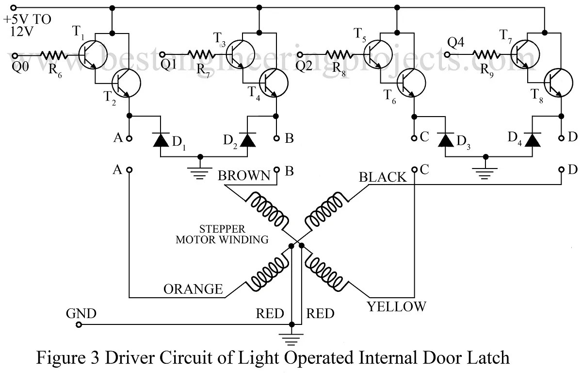 hight resolution of driver circuit of light operated internal door latch
