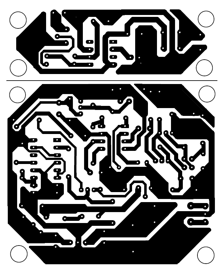 Solder side PCB design of sound operated on off switch