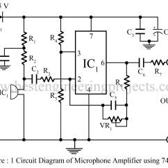 Circuit Diagram Of Non Inverting Amplifier Wiring For Tekonsha Voyager Brake Controller Microphone Using Op Amp 741 Based