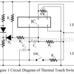 Thermal Touch Switch using op-amp 741