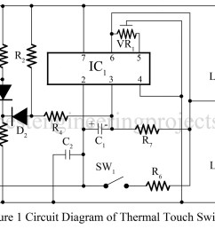 thermal touch switch using op amp 741 [ 1200 x 779 Pixel ]