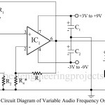 A Variable Audio Frequency Oscillator Using Op-amp 741