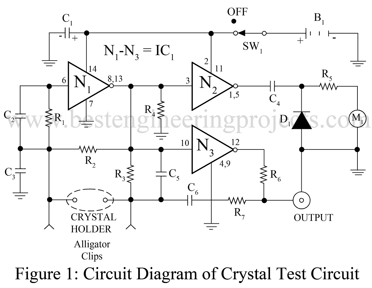 Universal Crystal Test Circuit Using Ca