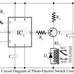 Photoelectric switch using ne555
