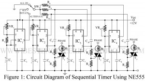 sequential timer using ne555