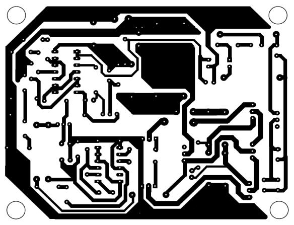 solder side pcb design of advance mini ups