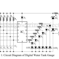 Water Level Indicator Project With Circuit Diagram Subaru Wiring Engineering Projects