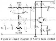 active tone control using single transitor