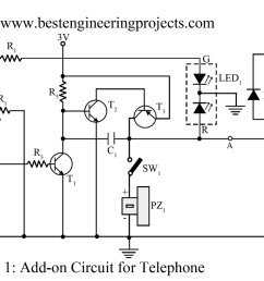 basic electronic circuit 1 add on device for telephone  [ 1200 x 775 Pixel ]